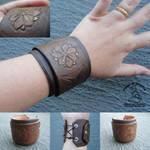 Tooled Leather Cuff
