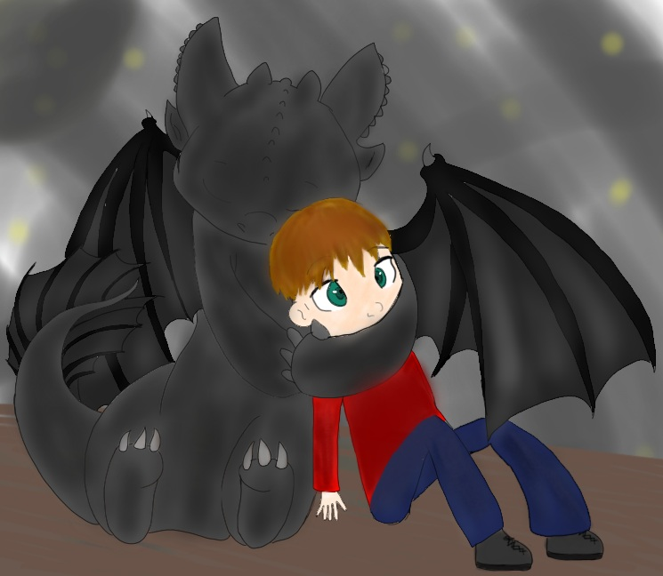 Will and Toothless from How to Train your Dragon by BrunettePanda