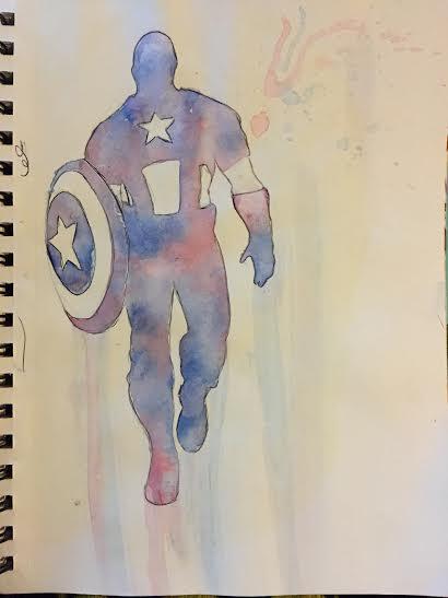 Captain America. by BrunettePanda