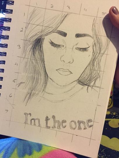 Self Portrait Sketch by BrunettePanda
