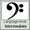 Intermediate in the musical language of Bass clef by BrunettePanda