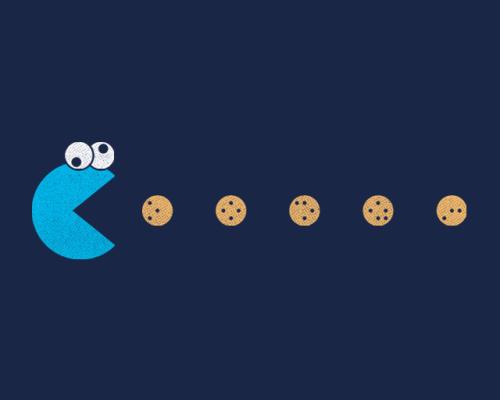 Monstruo come galletas en caricatura - Imagui