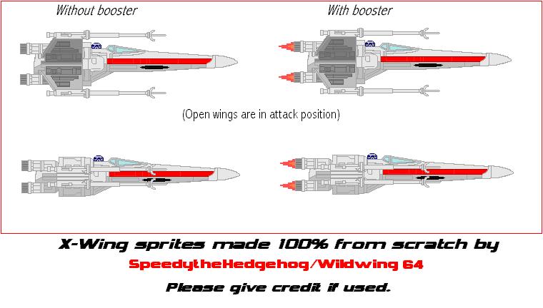 X Wing Sprites By Speedythehedgehog On Deviantart