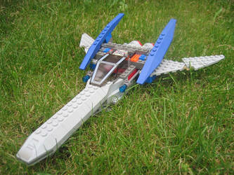 Lego Arwing by SpeedytheHedgehog