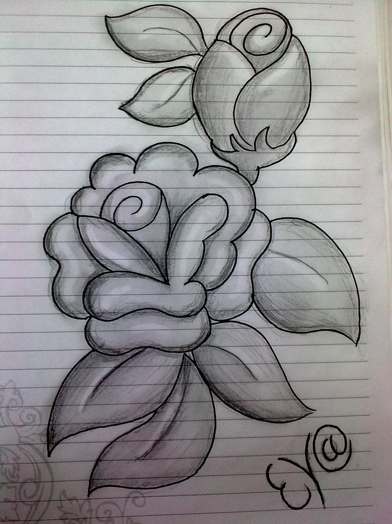 Rose flowers - black and white edition by Evailable on DeviantArt