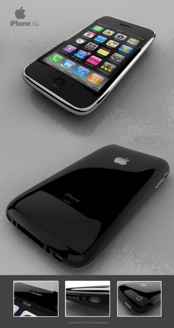 iPhone 3G by wiz24 - Cinema 4D by wiz24