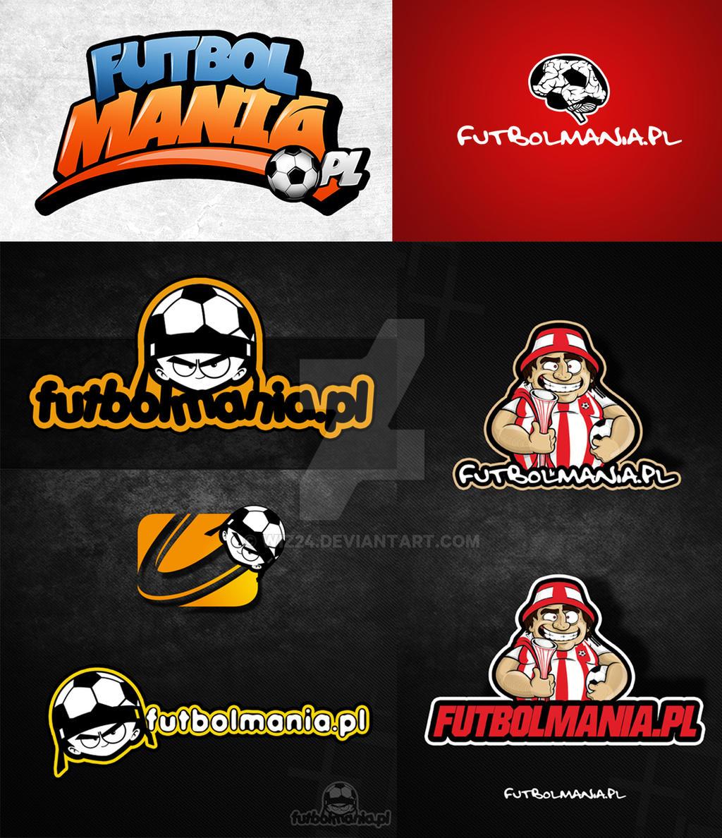 Futbolmania logo concepts by leonegro by wiz24