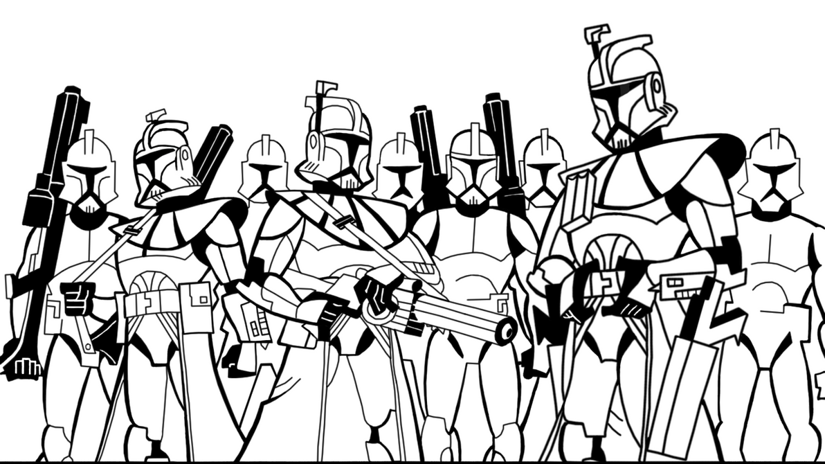 Line Art Group : B w arc trooper line art by gman on deviantart
