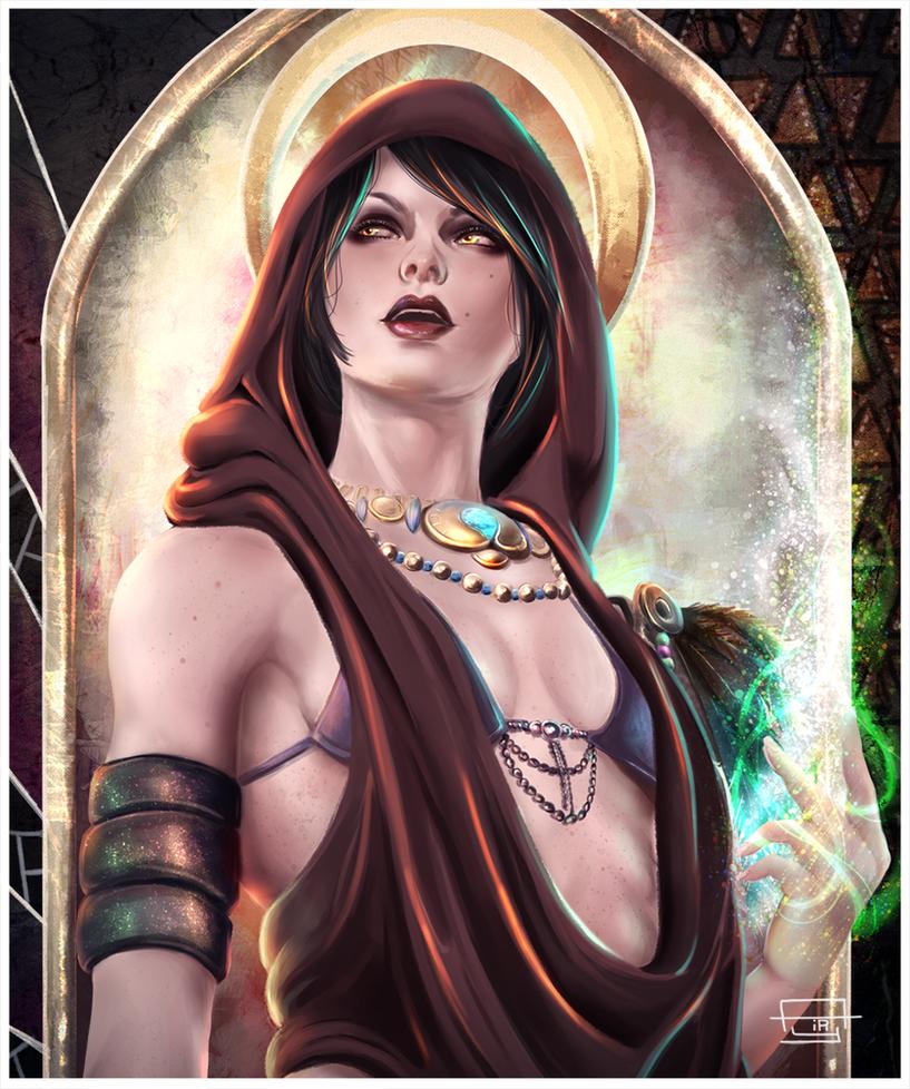 divine morrigan by Airyciel