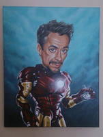 Robert Downey Jr as Iron Man Caricature