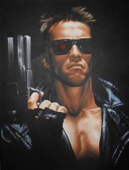 The Terminator Acrylic Painting
