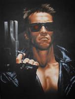 The Terminator Acrylic Painting by JonARTon