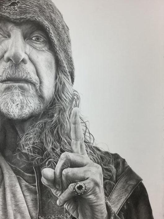 Robert Plant by JonARTon