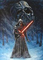 Kylo Ren Star Wars painting by JonARTon