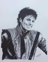 Michael Jackson Thriller in ballpoint pen. by JonARTon