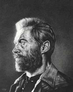 Hugh Jackman as Logan in Charcoal