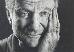 Robin Williams Charcoal Drawing