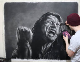 My huge drawing of Tommy Wiseau