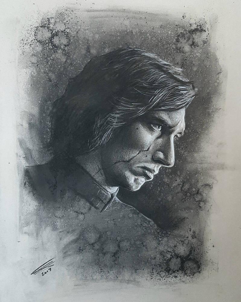 Kylo Ren in Charcoal by JonARTon