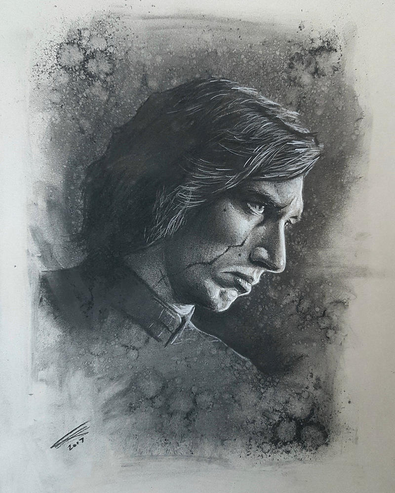 Kylo Ren in Charcoal by JonARTon
