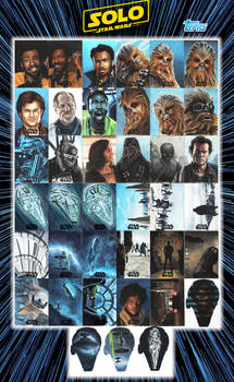 Solo - A Star Wars Story sketch cards.
