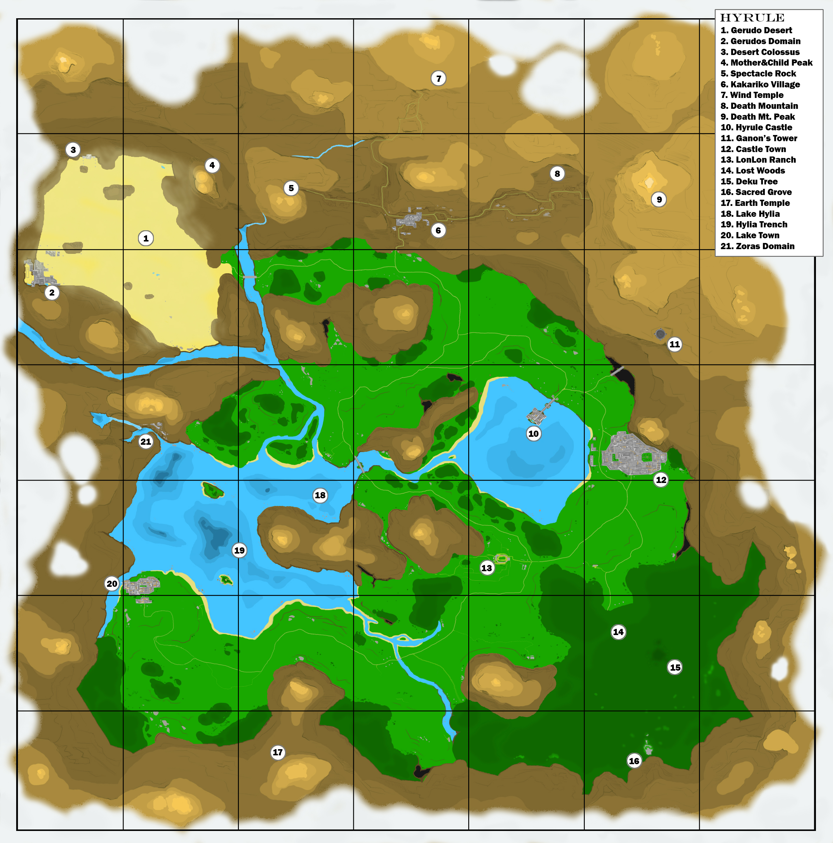 the legend of zelda ocarina of time user made map  videogamemaps - the legend of zelda ocarina of time user made map