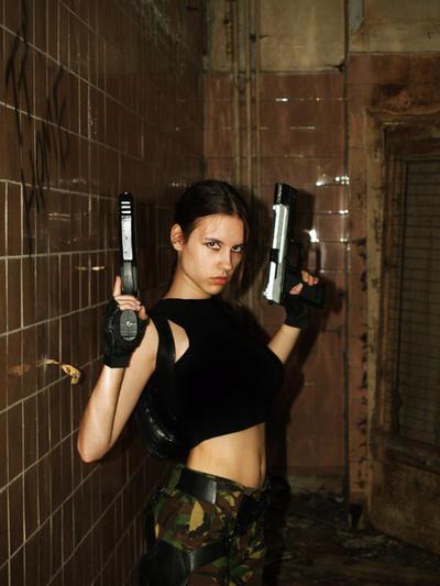 Angry Lara Croft by TanyaCroft