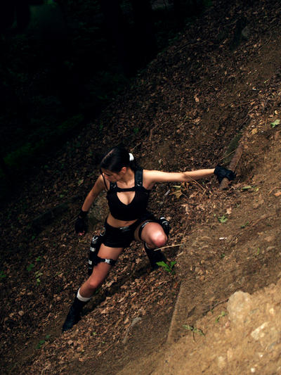 Lara Croft -  hanging by TanyaCroft
