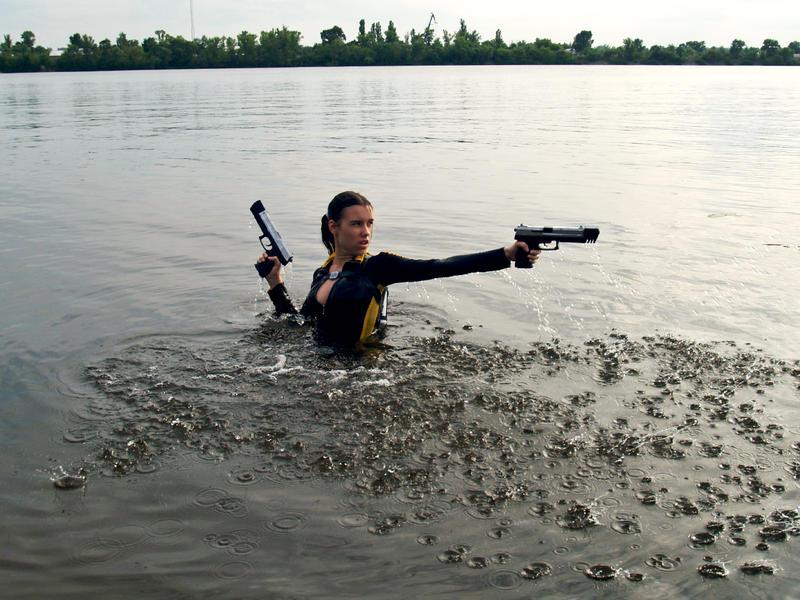 Lara Croft wetsuit - Shooting by TanyaCroft