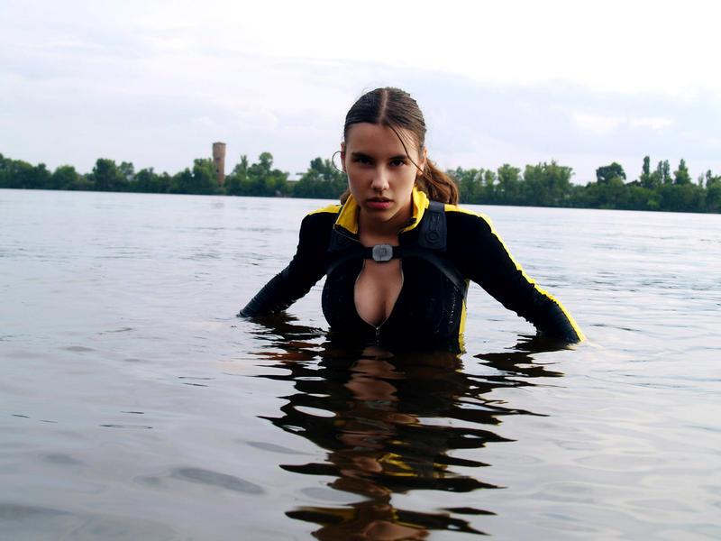 Lara Croft wetsuit - Staring eyes by TanyaCroft