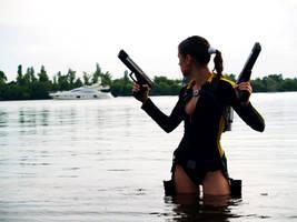 Lara Croft wetsuit - Yacht by TanyaCroft