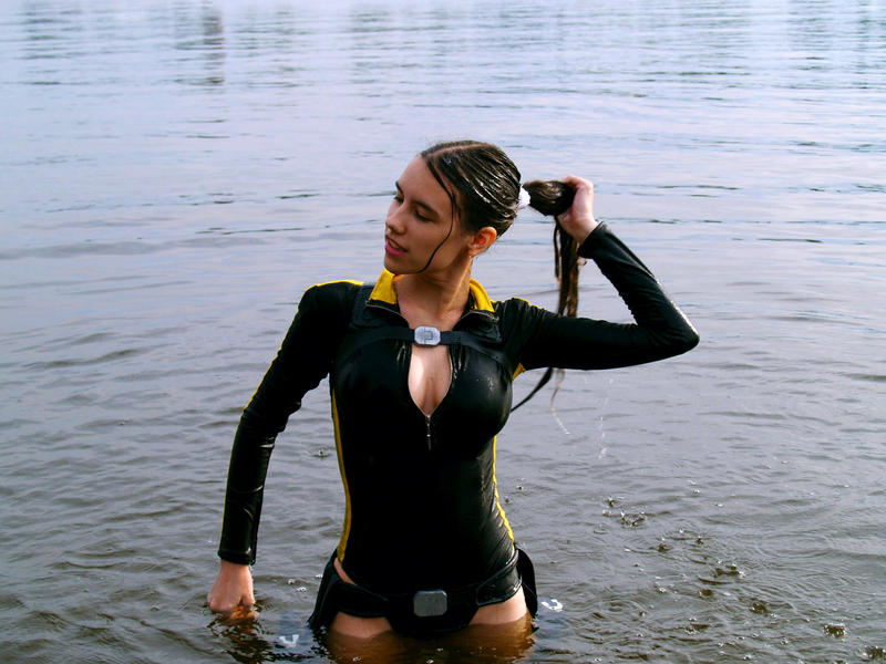 Lara Croft wetsuit cosplay by TanyaCroft