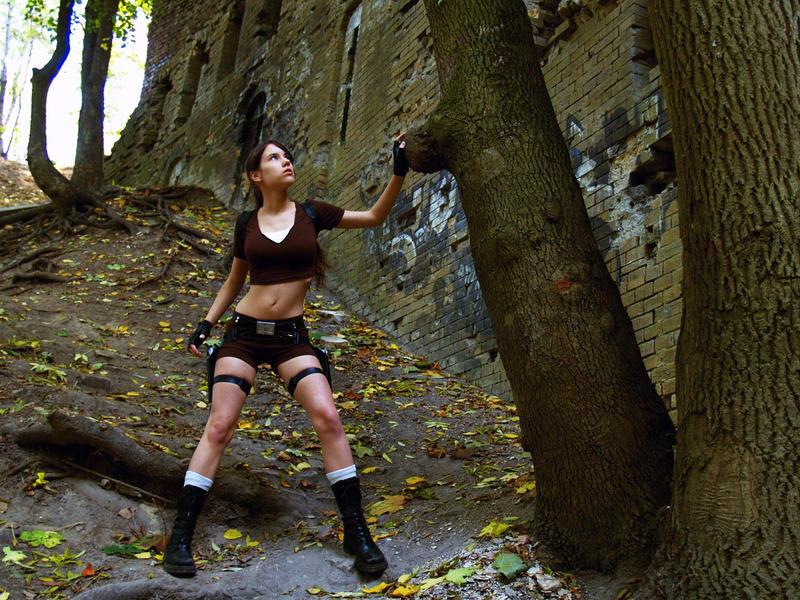 Lara Croft Cosplay - ruins2 by TanyaCroft