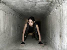 Lara Croft - tunnel by TanyaCroft
