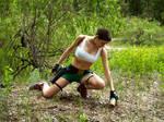 Lara Croft  and  first-aid kit