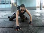 Lara Croft cosplay render