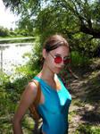 Lara Croft with sunglasses