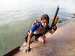 Lara Croft SOLA with harpoon