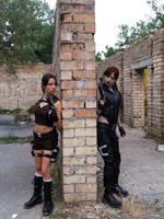 Lara Croft VS Doppelganger by TanyaCroft