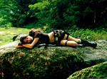 Lara Croft: like a panther