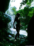 Lara Croft - waterfalls drops