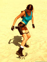 Lara Croft and scorpion by TanyaCroft