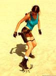 Lara Croft and scorpion