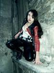 Lara Croft - near the wall