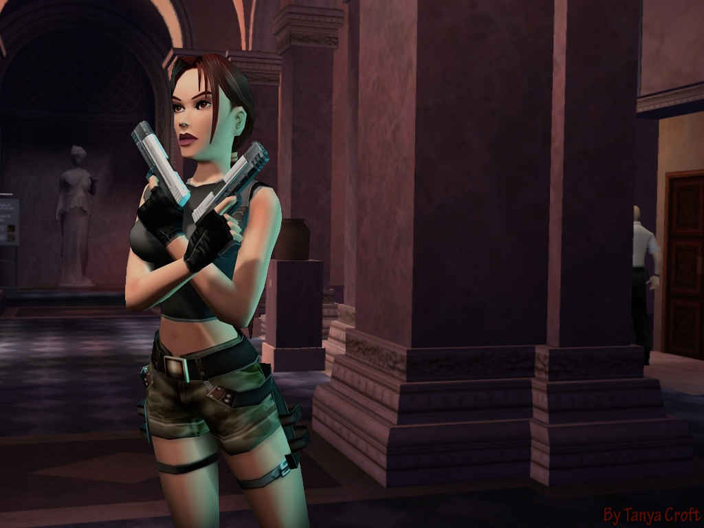 Lara Croft in Louvre by TanyaCroft