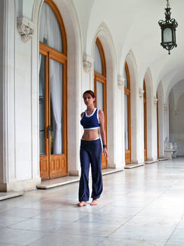 Lara Croft gym suit - walking
