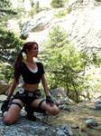 Lara Croft and mountains