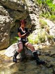 Lara Croft - reloading gun