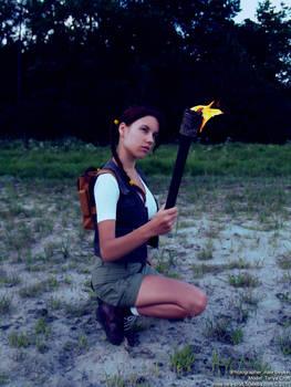 Little Lara Croft - fire