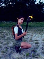 Little Lara Croft - fire by TanyaCroft